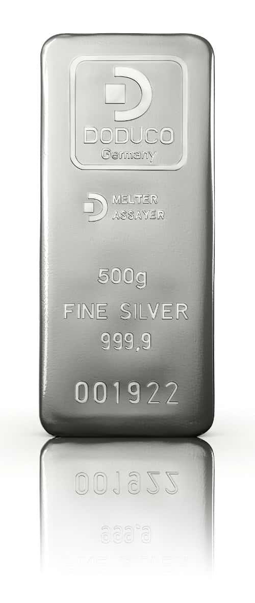 500 Gramm Silberbarren von DODUCO